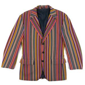 Hugo Hugo Boss Striped Multicolored Alcir Blazer